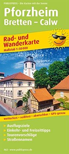 Pforzheim - Bretten - Calw: Rad- und Wanderkarte mit Ausflugszielen, Einkehr- & Freizeittipps, wetterfest, reissfest, abwischbar, GPS-genau. 1:50000 (Rad- und Wanderkarte / RuWK)