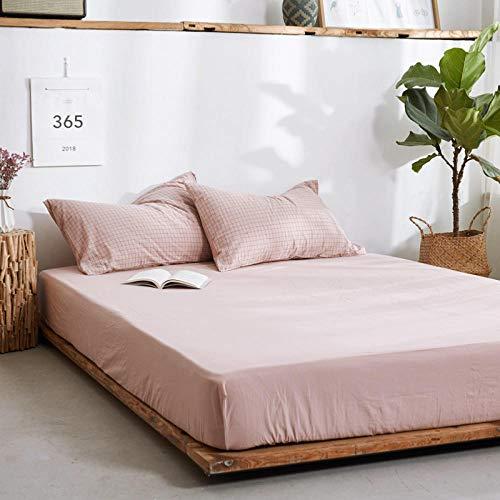 DSman Protector de colchón/Cubre colchón Acolchado, antiácaros, Sábana de algodón de una Sola Pieza Color sólido-20_150 * 200cm