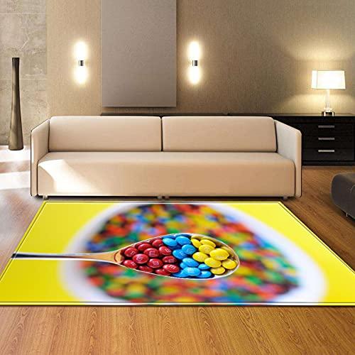 YDyun Alfombras Ultra Suaves para Interiores, Alfombra de Sala de Estar Creativa Personalizada Adecuada para el Comedor del Dormitorio