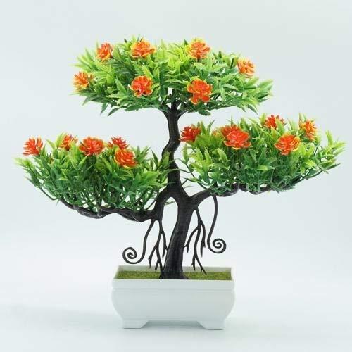 Künstliche Pflanzen Künstliche Pflanzen Bonsai Kleiner Baum Topfpflanzen Fake Flowers Topf Ornament for Hauptdekoration Büro Hotel Gartendeko Künstliche Blume ( Color : Orange , Size : Kostenlos )