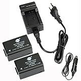 DSTE 2-Pack Rechange Batterie et DC108E Voyage Chargeur pour Panasonic DMW-BMB9 Lumix DMC-FZ40 DMC-FZ45 DMC-FZ47 DMC-FZ48 DMC-FZ60...