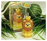 DOUYUAN Velas perfumadas sin Humo Creativas, Animales Lion Fiesta de cumpleaños para niños Velas y Regalos de la Fiesta de Bodas (Color : Lion King)