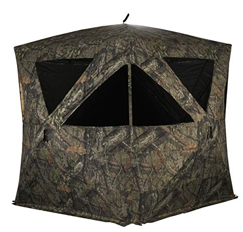 Rhino Blinds R500-MOC 4+ Person Hunting Ground Blind, Mossy Oak Breakup Country, Mossy Oak Break-up Country