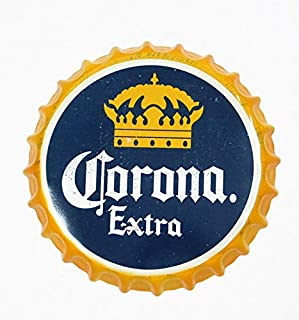 2but Corona Extra Decorative Bottle Caps Metal Tin Signs Cafe Beer Bar Decoration Plat 13.8