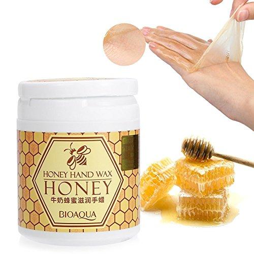Hand Peeling Maske, Milch & Honig Exfoliate Feuchtigkeitsspendende Aufhellung Peeling Kallus Handschuhe Hand Maske