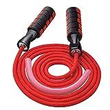MICHETT, corda per saltare Speed Rope Fitness per uomini e donne, corda regolabile e antigroviglio per allenamento professionale, Colore: rosso