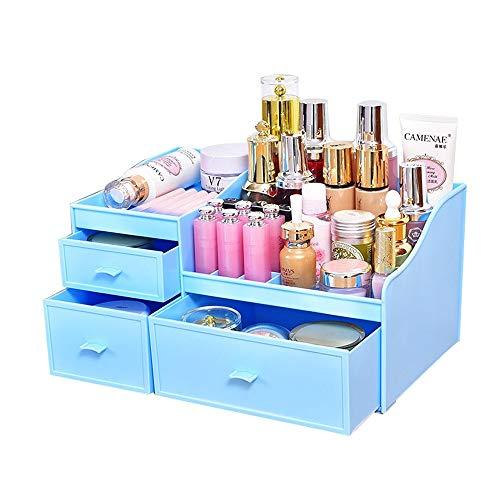 Kcakek Lade Cosmetische opbergdoos grote Finishing Skincare Table Dresser Plastic Lipstick cosmetische Shelf Vanity Vitrine kast met laden Lade Locker