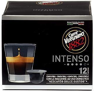 Capsules Café Compatibles Nescafé Dolce Gusto, Intenso - 1 étui de 12 capsules
