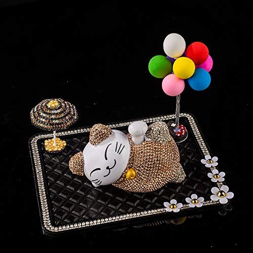 Glückliche Katze Ornamente Autozubehör Champagner