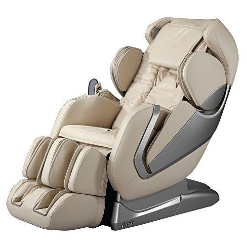 Titan Pro Alpha Zero Gravity Massage Chair, L Track, Foot Rollers, Space Saving Design, Bluetooth Speakers, FDA Massage Chair (Beige)