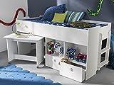 """Kombi-Bett Schreib-Schlaf-Kombi Etagenbett Schreibtisch Kinderzimmer """"Galen I"""""""