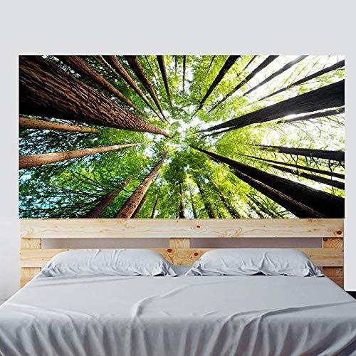 Green Forest Tree Mesitas de noche Dormitorio Decoración de noche Papel pintado Pvc Impermeable 3D Pegatinas de pared 90X180 cm