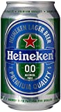Heineken 0.0% Non-Alcohol, Alcohol Free Beer, Great Taste, Zero Alcohol, 11.2 Fl Oz | Case of 24 Cans
