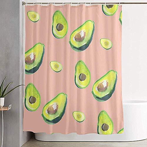 Sherry K-Shower Curtains Cortina de Ducha Acuarela Blue Skull Radio Cortina de baño con Ganchos Conjuntos de Cortinas de baño de Tela Resistente al Agua (183cm x 183cm)