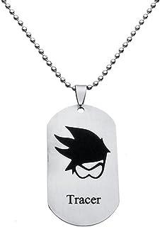 Collar Cuello Colgante Cadena Collar Joyas Accesorios Dise/ño Acero Inoxidable Escudo joyas en plata nuevo modelo Overwatch lucio