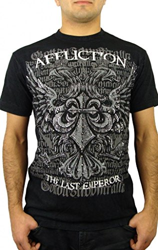 Fedor Warbird Signature Series S/S Guys T-shirt in Black by Affliction Clothing, Size: Medium