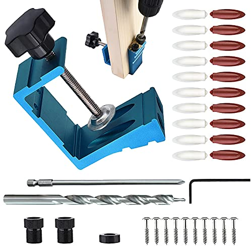 Kit de carpintería para carpintería, ángulo de perforación de carpintero, guía de perforación de ángulo de carpintería, herramienta de unión para manualidades de madera, paquete de 36
