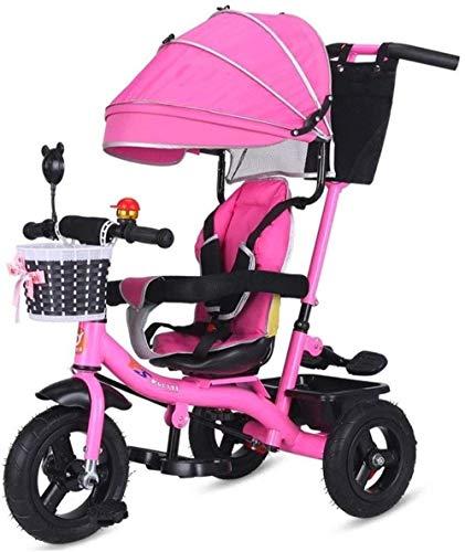 Poppenwagen kinderen trikes peuters tricycle push-and-ride-pazi-aanvulling Tricycle Folding ABS voetpedalen met baldakijn duwstang grow-met hoofd instelbare hoogte drukken babyartikel