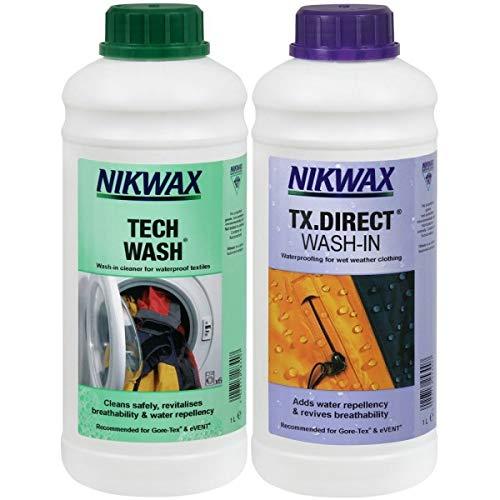 Nikwax Tech waschen und TX Direct einschäumen Doppel Packung - Durchsichtig, 1000 ml