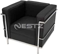 Le Corbusier LC2 Replica Premium Leather Armchair Sofa - Black