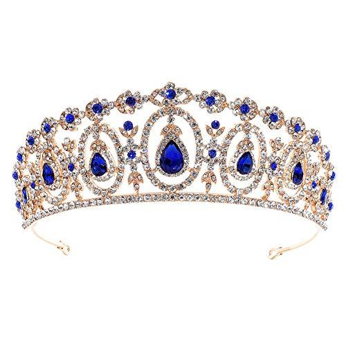 Demarkt Novia Boda Crown Rhinestone-Kristall decoración Stirnband Velo Tiara de la Reina,...