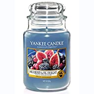 Yankee Candle Scented Candle   Mulberry and Fig Delight Large Jar Candle   Burn Time: Up to 150 Hour...