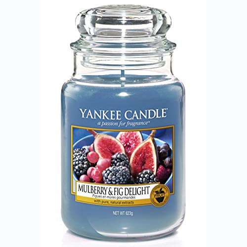 Yankee Candle Scented Candle | Mulberry and Fig Delight Large Jar Candle | Burn Time: Up to 150 Hours