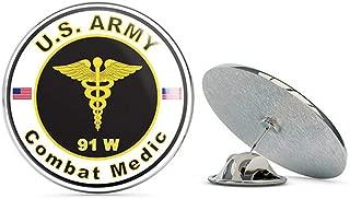 Veteran Pins U.S. Army MOS 91W Combat Medic Metal 0.75