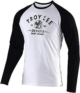 Troy Lee Designs Mens Long Sleeve Racing Specialist T-Shirt (Medium, White/Black)