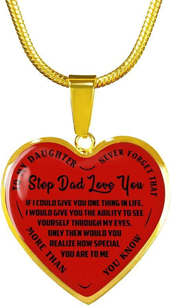 to My Daughter Luxury Necklace Chain Very popular Love unisex Dad Step You Pendant -
