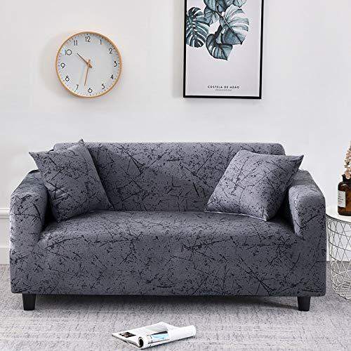 WXQY Fundas de patrón Cruzado Fundas de sofá elásticas elásticas Protección para Mascotas Funda de sofá Esquina en Forma de L Funda de sofá con Todo Incluido A19 4 plazas