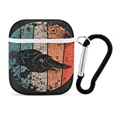 Retro Duck-Billed Platypus Airpods Case Cover for Apple AirPods 2&1 Cute Airpod Case for Boys Girls Silicone Protective Skin Airpods Accessories with Keychain