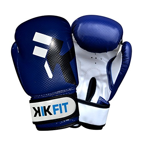 KIKFIT Blau Kinder Boxhandschuhe 4oz 6oz 8oz Junior Punch Bag Lederhandschuh MMA Muay Thai 8oz