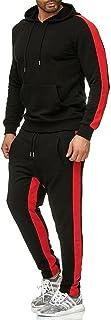 Men's casual sports suit 2-piece pullover colorful jogging suit hoodie