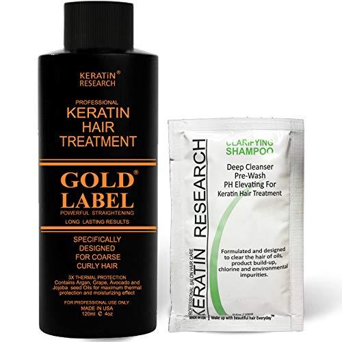 Gold Label 120ml FORMALDEHYDE-FREE Professional Results Brazilian Keratin...