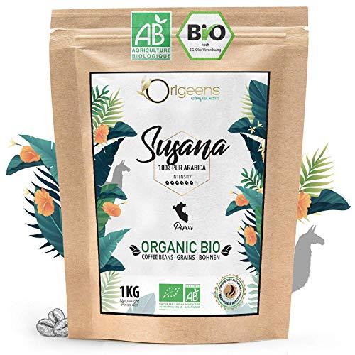 ORIGEENS CAFE GRAIN BIO 1kg | Café en Grain Arabica | Susana - Single Origin Pérou | Torréfaction Artisanale…