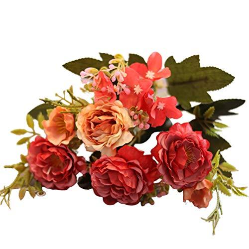 Luwsldirr 1Pc 30cm Artificial Fake Peony Flower Desktop Ornament DIY Home Wedding Decor