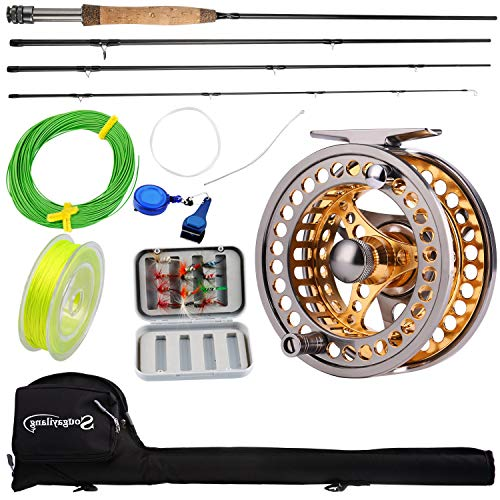 Sougayilang Fly Fishing Rod Reel Combos with Lightweight Portable Fly...