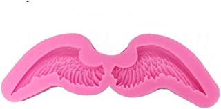 QTMD MoldesModelo de Plumas de pájaro moldes de Fondant moldes de Corte ángel alas de bebé Hornear de Silicona Fondant decoración de Pasteles (2 Piezas)