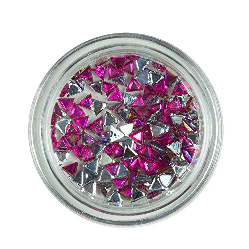 Strass triangle rose de pierres de strass avec décoration en cristal Rhinestones Nail Art
