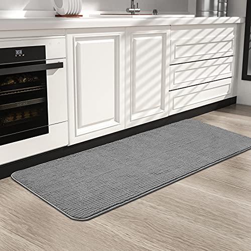 Color&Geometry Alfombra de Cocina 44x150cm.Alfombra Cocina Lavable Antideslizante,Alfombrilla Cocina,alfombras para Cocina,Pasillo,Entrada,Alfombra de Comedor.(Gris)