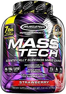 MuscleTech Mass Tech Mass Gainer Protein Powder, Build Muscle Size & Strength with..