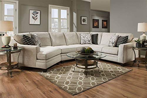 Chelsea Home 3-Pc Endurance Oatmeal Right Side Facing Sectional