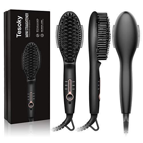 Tesoky Cepillo eléctrico alisador de pelo con tecnología iónica, Cepillo Plancha Antiestático...