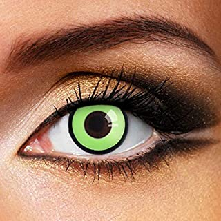 Partylens kleurlenzen - Green Manson - jaarlenzen inclusief gratis lenzendoosje - groene zachte contactlenzen