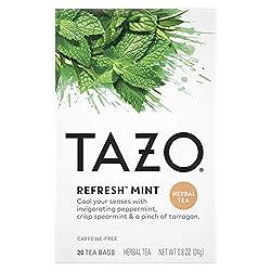 Tazo Tea Bags For a Refreshing Cup of Tea Herbal Tea Caffeine-Free Tea 20 ct
