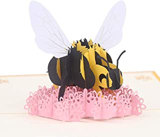 Happy Birthday 3D Pop Up Cards - Handmade 3d Pop Up Greeting Cards Perfect for Valentines Day, Mothers Day, Father 's Day, Anniversary Unique Original Blank Appreciation Card with Envelopes Bee