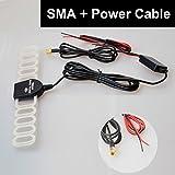 車載テレビアンテナ 信号増幅器 SMA端子 12V入力アクティブ 強力ブースター地デジアンテナ
