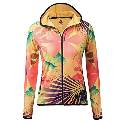 CATENA Giacca da Donna Ciclismo con Cappuccio Antivento Coat Softshell Full Zip per Abbigliamento Sci Trekking Corsa