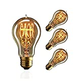 ZOOVQI LED E27 Glühbirne Edison Vintage Glühlampe 60W A19 Dekorative